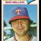 TEXAS RANGERS MIKE WALLACE 1977 TOPPS # 539 G+/VG