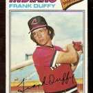 CLEVELAND INDIANS FRANK DUFFY 1977 TOPPS # 542 good