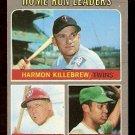 HOME RUN LEADERS TWINS HARMON KILLEBREW SENATORS FRANK HOWARD ATHLETICS REGGIE JACKSON 1970 TOPPS 66