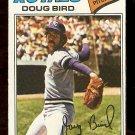 KANSAS CITY ROYALS DOUG BIRD 1977 TOPPS # 556 VG