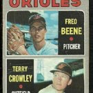 BALTIMORE ORIOLES ROOKIE STARS TERRY CROWLEY FRED BEENE 1970 TOPPS # 121 fair/good