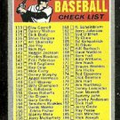2ND SERIES CHECKLIST UNMARKED 1970 TOPPS # 128 G+/VG