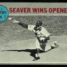 NLCS GAME 1 NEW YORK METS TOM SEAVER WINS OPENER 1970 TOPPS # 195 VG/EX