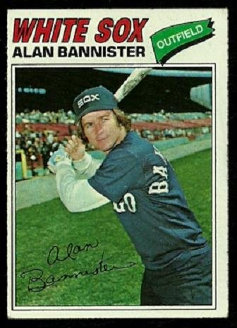 CHICAGO WHITE SOX ALAN BANNISTER 1977 TOPPS # 559 EX