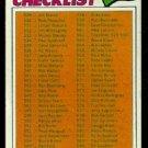 UNMARKED CHECKLIST 529-660 1977 TOPPS # 562 VG+