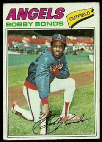 CALIFORNIA ANGELS BOBBY BONDS 1977 TOPPS # 570 VG