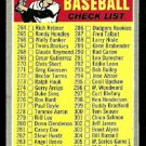 3RD SERIES CHECKLIST 1970 TOPPS # 244 VG UNMARKED