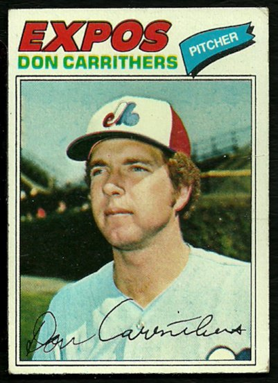 MONTREAL EXPOS DON CARRITHERS 1977 TOPPS # 579 VG