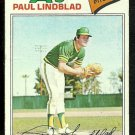 OAKLAND ATHLETICS PAUL LINDBLAD 1977 TOPPS # 583 G/VG