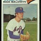 NEW YORK METS RICK BALDWIN 1977 TOPPS # 587 VG
