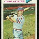 TEXAS RANGERS DAVE MOATES 1977 TOPPS # 588 VG
