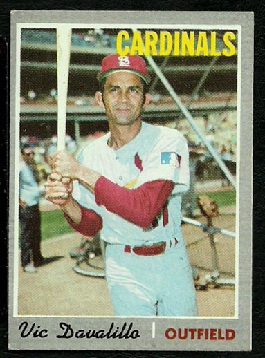 ST LOUIS CARDINALS VIC DAVALILLO 1970 TOPPS # 256 EX+