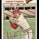 ST LOUIS CARDINALS MIKE TYSON 1977 TOPPS # 599 VG