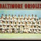 BALTIMORE ORIOLES TEAM CARD 1970 TOPPS # 387 VG