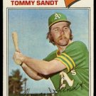OAKLAND ATHLETICS TOMMY SANDT 1977 TOPPS # 616