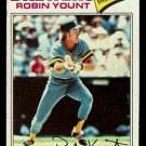 MILWAUKEE BREWERS ROBIN YOUNT 1977 TOPPS # 635 VG