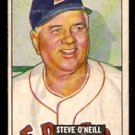 BOSTON RED SOX STEVE O'NEILL 1951 BOWMAN # 201 VG