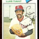 BOSTON RED SOX LUIS TIANT 1977 TOPPS # 258 NR MT