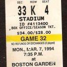 1994 TICKET STUB BOSTON BRUINS CAM NEELY SCORES 50 GOALS IN 44 GAMES