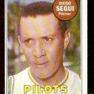 SEATTLE PILOTS DIEGO SEGUI WHITE LETTER VARIATION 1969 TOPPS # 511 NR MT OC