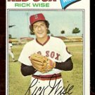 BOSTON RED SOX RICK WISE 1977 TOPPS # 455 VG+