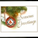 2001 BOSTON RED SOX 100th SEASON TEAM ISSUED LIMITED EDITION CHRISTMAS CARD