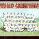 WORLD CHAMPIONS NEW YORK METS 1970 TOPPS # 1 good