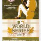 BOSTON RED SOX FENWAY PARK 2011 WORLD SERIES FULL TICKET