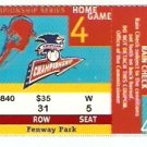 BOSTON RED SOX FENWAY PARK 1999 CHAMPIONSHIP SERIES ALCS FULL TICKET