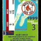 BOSTON RED SOX FENWAY PARK 1999 DIVISION SERIES ALDS FULL TICKET