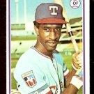 TEXAS RANGERS CLAUDELL WASHINGTON 1978 TOPPS # 67 NR MT