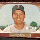 BOSTON RED SOX IKE DELOCK 1955 BOWMAN # 276 EX