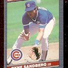 CHICAGO CUBS RYNE SANDBERG 1986 LEAF # 62