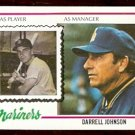 SEATTLE MARINERS DARRELL JOHNSON 1978 TOPPS # 79 EX