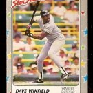 NEW YORK YANKEES DAVE WINFIELD 1988 FLEER STAR STICKER CARD # 53
