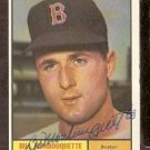 BOSTON RED SOX BILL MONBOUQUETTE AUTOGRAPHED 1961 TOPPS # 562