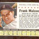BOSTON RED SOX FRANK MALZONE 1961 POST CEREAL # 48 VG