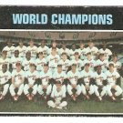 BALTIMORE ORIOLES WORLD CHAMPIONS 1971 TOPPS # 1 good