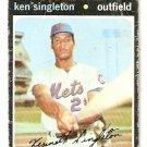 NEW YORK METS KEN SINGLETON 1971 TOPPS # 16 fair