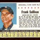 BOSTON RED SOX FRANK SULLIVAN 1961 POST CEREAL # 55