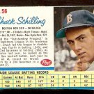 BOSTON RED SOX CHUCK SCHILLING 1962 POST CEREAL # 56