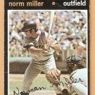 HOUSTON ASTROS NORM MILLER 1971 TOPPS # 18 VG