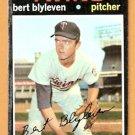 MINNESOTA TWINS BERT BLYLEVEN ROOKIE CARD RC 1971 TOPPS # 26 good