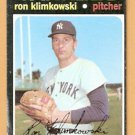 NEW YORK YANKEES RON KLIMKOWSKI 1971 TOPPS # 28 good