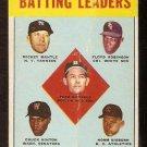 BATTING LEADERS NEW YORK YANKEES MICKEY MANTLE 1963 TOPPS # 2 good