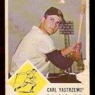 BOSTON RED SOX CARL YASTRZEMSKI YAZ 1963 FLEER # 8 fair/poor