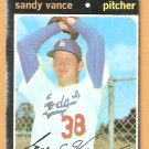 LOS ANGELES DODGERS SANDY VANCE 1971 TOPPS # 34 good