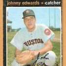 HOUSTON ASTROS JOHNNY EDWARDS 1971 TOPPS # 44  good