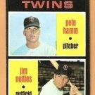 MINNESOTA TWINS ROOKIE STARS PETE HAMM JIM NETTLES 1971 TOPPS # 74 EX/EM