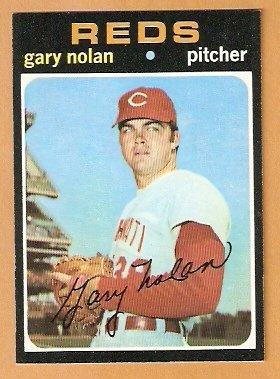 CINCINNATI REDS GARY NOLAN 1971 TOPPS # 75